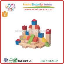 Top-Verkauf 11 Formen Baby-Montage Spielzeug Hartholz Kinder Bau-Blöcke