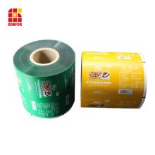 Película de envasado flexible de barrera de sellado térmico para café