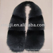 Real fox fur collar