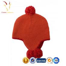 Chapéus da criança da caxemira do inverno 100% da aleta da orelha da meia