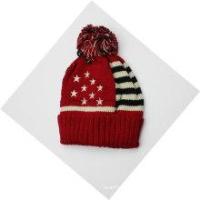 Флаг страны Зимний теплый акриловый трикотажный шапочка черепа с черепом / кепка