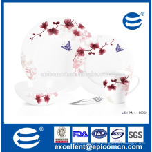 Plato de cena floral de la porcelana de la gracia set platos enteros 16pcs