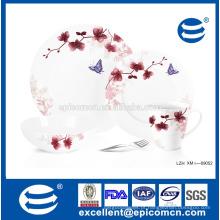 Grace conjunto de jantar de porcelana floral 16pcs pratos conjunto conjunto