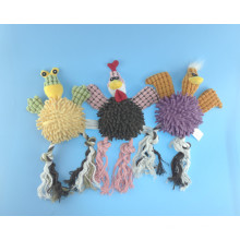 Frog, Chicken and Duck Cutton Rope Toy with Squeaker