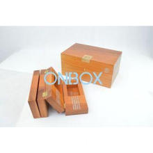 Box in box design solid wood coin packaging case with carvi