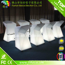 Portable LED Lighting Furniture LED Coffee Chair Bar Chair Lounge Chair