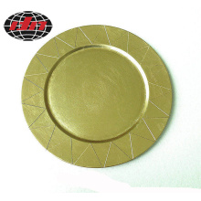 The Sun Side Plastic Plate with Metallic