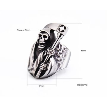 Chết Skull Mens Nhẫn Mát Ring For Men