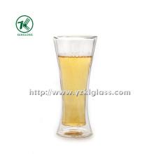 Doppelwand-Glasflasche von BV, SGS (Dia7.5cm, H: 17.8cm, 380ml)