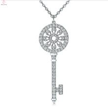 Top-Sale Schlüssel Stil 925 Sterling Silber Anhänger eingelegten CZ