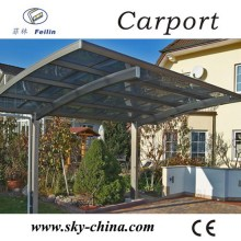 Aluminum Car Shed with PC Sheet Roof