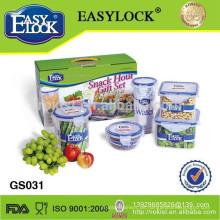 Plastiknahrungsmittelspeicher-Kanisterbehälter eingestellt