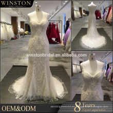 Nuevo vestido de boda blanco de la perla de la manera de la venta al por mayor del producto de la llegada