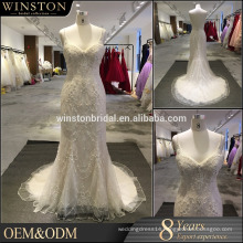 New arrival product wholesale Beautiful Fashion pearl white wedding dress