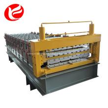 Chapa de material de construcción de doble capa que forma la maquinaria