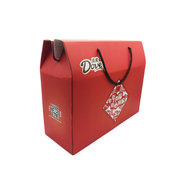 Corrugated paper packaging chocolate handle box