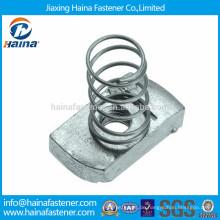 Verzinkte Stahl-Spannkammmutter mit regelmäßiger Feder