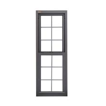 Fábrica directa de ventanas de aluminio barato toldo ventana negro