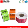 Gsg Thermal Printed Self-Adhesive Barcode Label