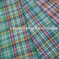 100% algodão tecido fio tingido cor camisa de tecido para mens camisa