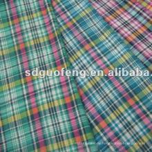 100% Baumwollgewebe Garn gefärbt Farbe Shirt Stoff für Herren Shirt