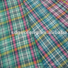 Tela teñida hilado de la tela del color de la tela 100% de algodón para la camisa para hombre