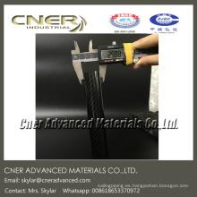 CNC que corta el tubo redondo de la fibra de carbono llana 3K