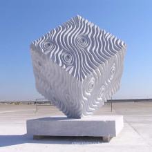 sculpture de jardin moderne sculpture sur pierre abstraite sculpture en marbre italien