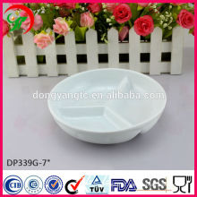 Wholesalers porcelain divided dinner plates,cheap bulk dinner plates