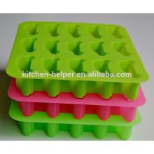 China Professional Hersteller umweltfreundliche Food Grade Cute Anti-Staub Antihaft-Quadrat-Auto-Form Silikon Eisform / Eis-Fach