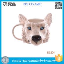 Neuheit Wolf Kopf Form Keramik Becher Geburtstagsgeschenk