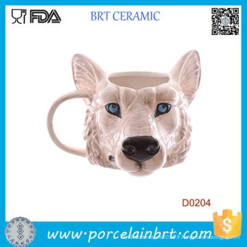 Nouveauté Tête de Loup Tasse en céramique cadeau d'anniversaire