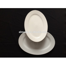 white restaurant porcelain oval fish plate in different sizes