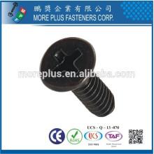 Fabriqué en acier inoxydable en acier inoxydable Acier au carbone M1.7X6 PT Vis à tête fraisée Vis à rouleaux