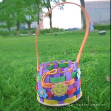 Tiras de espuma de artesanato EVA DIY cesta cesta de flores como presente de criança