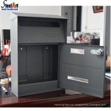 Wall mount cast iron customized waterproof mailbox