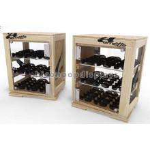 3-Layer Desktop óculos de sol de madeira Case, Eyewear Shop Publicidade de óculos de sol de madeira Display Case