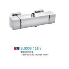 Conjunto de misturador de chuveiro termostático com cascata com acessórios