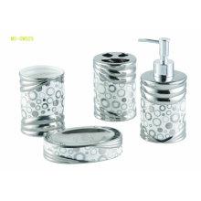 Juegos de baño de cerámica con acabado metálico
