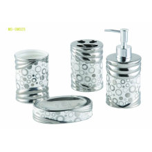 ceramic bathroom sets with metallic finishing
