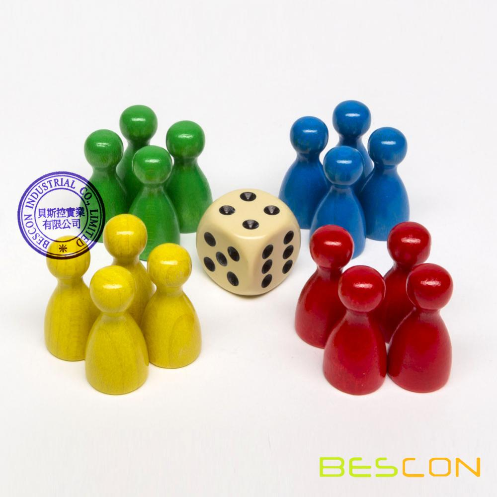 Set of Pawns and Dice, Game Components, Game Bits, Game Pieces