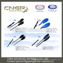 Marca Cner Hot saling colorido pala de kayak de fibra de vidrio personalizada con mano redonda