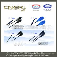 Marca Cner Hot saling colorido personalizado de fibra de vidro caiaque remo lâmina com mão rodada