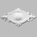 Medalhão de teto decorativo oval de poliuretano