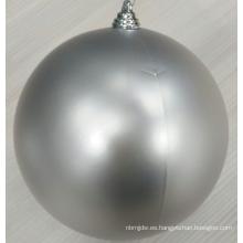 Ornamentos plásticos vendedores calientes de la bola de la Navidad de la plata 8inch