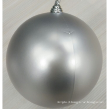 Hot Selling 8inch Silver Christmas Plastic Ball Ornamentos