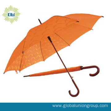 Double Layer Auto Open Straight Umbrella