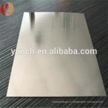 Prix de feuille de tôle de carbure de tungstène / en métal pour l'outil de coupe
