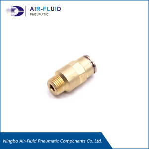 Air-Fluid Brass High Pressure Male Straight Fitting