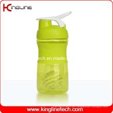 500ml Kunststoff-Mixer-Shaker-Flasche mit Edelstahl-Mixer-Mischer-Kugel (KL-7064)